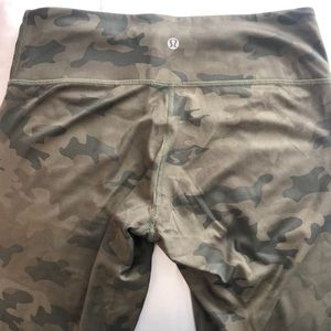 Camo crop Lululemon leggings. Size 8